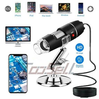 8 Led 1000x Usb 2.0 Digital Microscope Endoscope Magnifier Camera With Stand