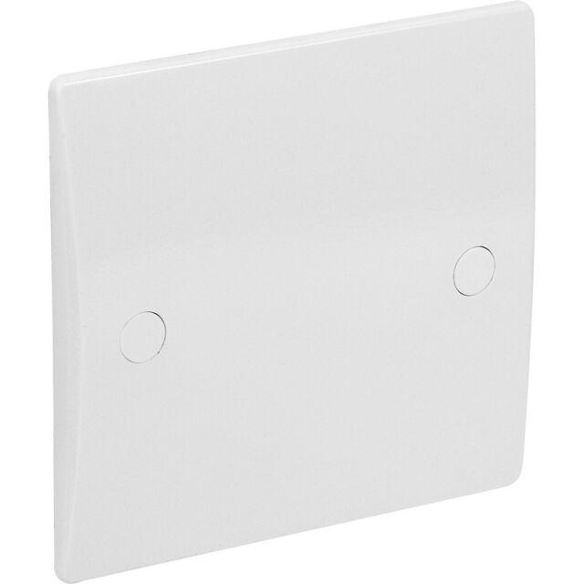 1 Gang White Flat Plate Blank       new