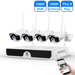 Wireless Security Camera System 4 Channel 1080p HD NightVision