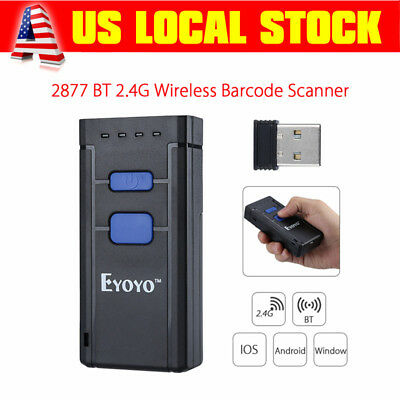 Mj2877 Bluetooth Laser Usb Barcode Scanner Code Reader For Android Ios Windows
