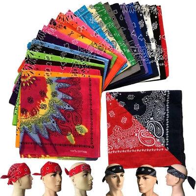 Women Men Hip Hop Bandana Handkerchief Face Head Wrap Scarf Printed Square (Mens Square Printed Bandana)