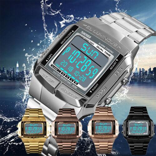 Sportuhr Männer Luxusuhren wasserdichte Militär LED Uhr Digital Armbanduhr