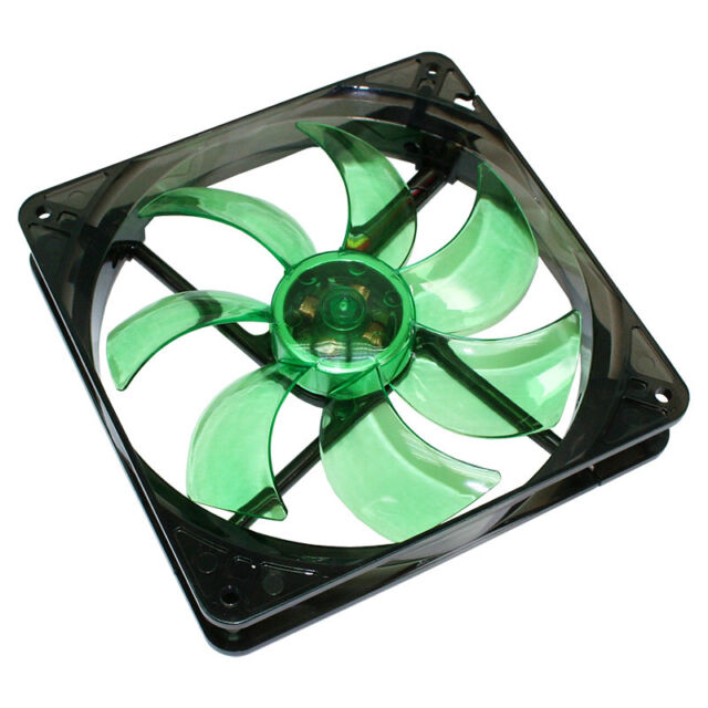 Cooltek - Silent Fan LED Serie Silent Fan 120 Green LED  - 1.200 U/Min - TOP