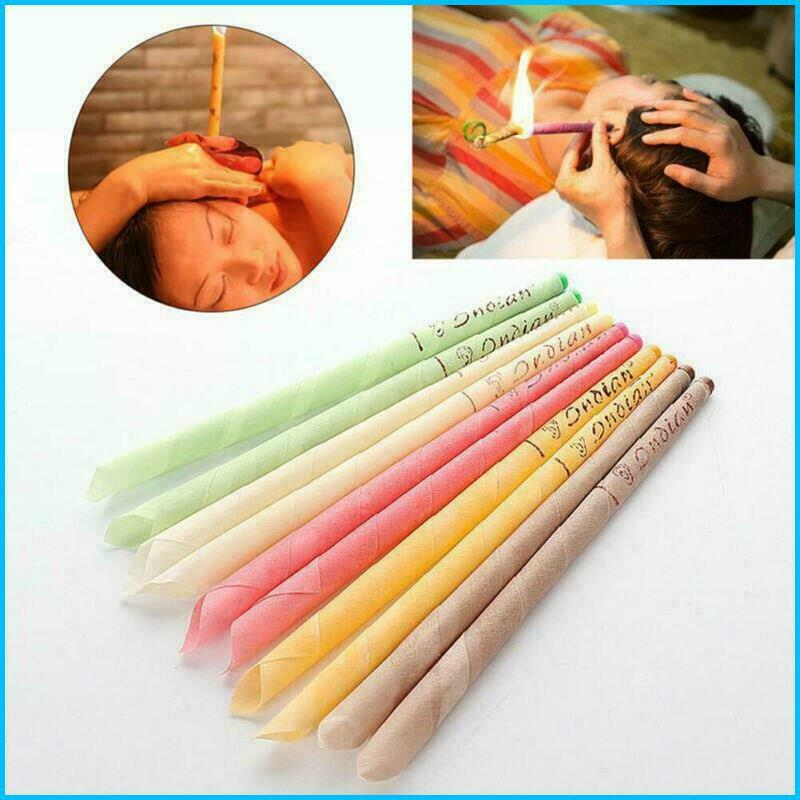 10 Pcs Ear Wax Cleaner Removal Coning Fragrance Candles Holl