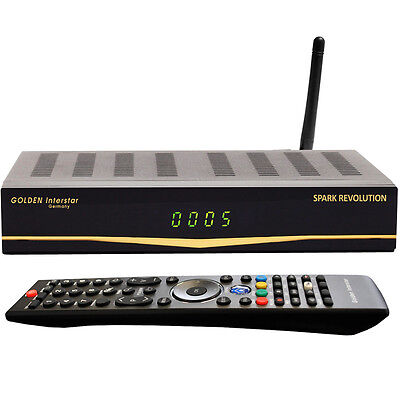 WLAN Sat-Receiver Golden Interstar LINUX ENIGMA Spark Revolution FULL HD IPTV