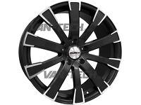 Calibre Manhattan 20″ Alloy Wheels Black VW T5 T5.1 and T6 Vans