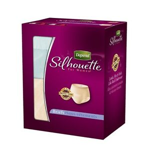Depend Silhouette Incontinence Briefs for Women