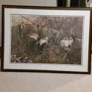Three Wolves by Neil Blackwell Peterborough Peterborough Area image 1