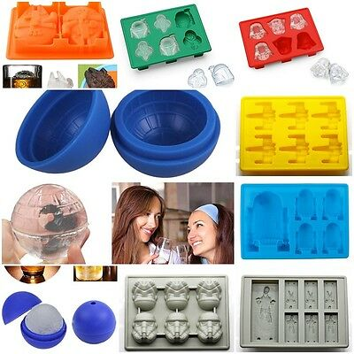 Star Wars Ice Tray Silicone Mold Ice Cube Tray Chocolate Mold Death Star R2D2
