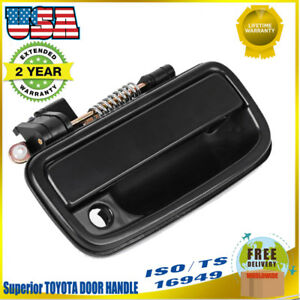 Black Front Right Passenger Side Outside Door Handle for 95-04 Toyota Tacoma FR