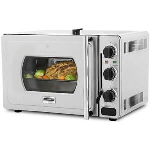 Wolfgang Puck Pressure Oven Rotisserie 29-Liter Stainless Steel Countertop Oven with Bonus Accessories