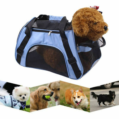 - Blue Fabric Pet Carrier Soft Sided Cat Dog Comfort Travel Tote Bag Travel Useful