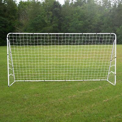 12 x 6 Portable Soccer Goal Net Steel Post Frame Backyard Football Training Set