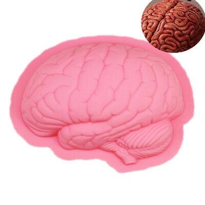 Silicone Halloween Brain Cake Mold Pan Muffin Bread Bakeware Tray Baking - Halloween Brain Cake Pan