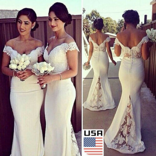 Dress - Women Long Formal Prom Dress Cocktail Party Ball Gown Evening Bridesmaid Dresses