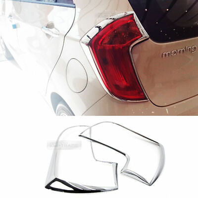 2008 2009 Picanto//Morning Chrome Rear//Tail Light Lamp Cover Molding K-560