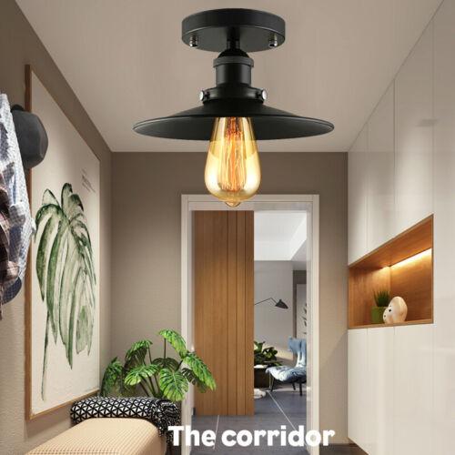 Industrial Ceiling Light Fixture Vintage Metal Semi Flush Mo