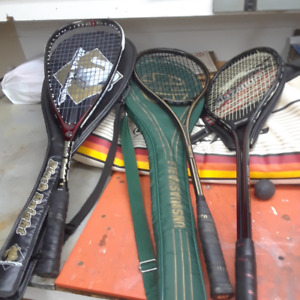 Squash Racquets and Bag