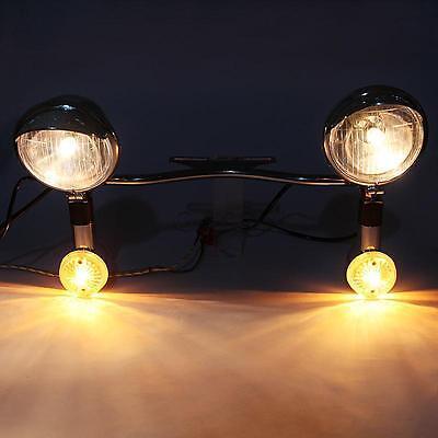 Passing Fog Light Bar Kit For Harley Davidson Street Electra Glide FLHX Touring