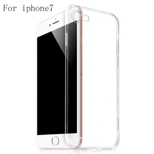 1pc Ultra-thin Slim Silicone Soft Transparent TPU Case Cover For iPhone 7/7plus