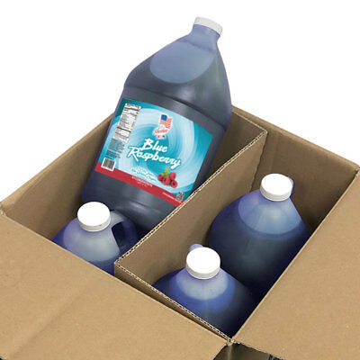 100%Fruit Juice Blue Raspberry Slushe Frozen Drink Mix-4 Gal Case-NO SUGAR ADDED (Blue Juice Drink)