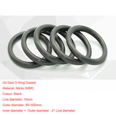 10mm Od80500 Nbr Nitrile O-ring Gasket Seals Rubber Oil Sealing Washers