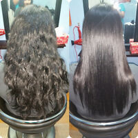Permanent Japanese hair straightening specialist in Brampton