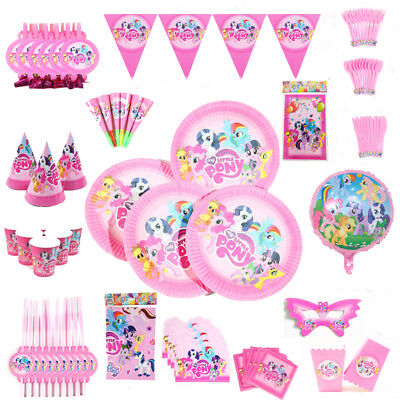 Kids My Little Pony Birthday Party Girls Supplies Favor Tableware Decor Plates - My Little Pony Party