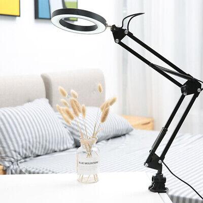 LED Tischlampe Schreibtischlampe Klemmleuchte schwenkbar faltbar Schwarz LM ()
