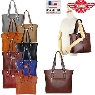 Women Leather Purses and Handbags Shoulder Hobo Crossbody Tote Bag T0001