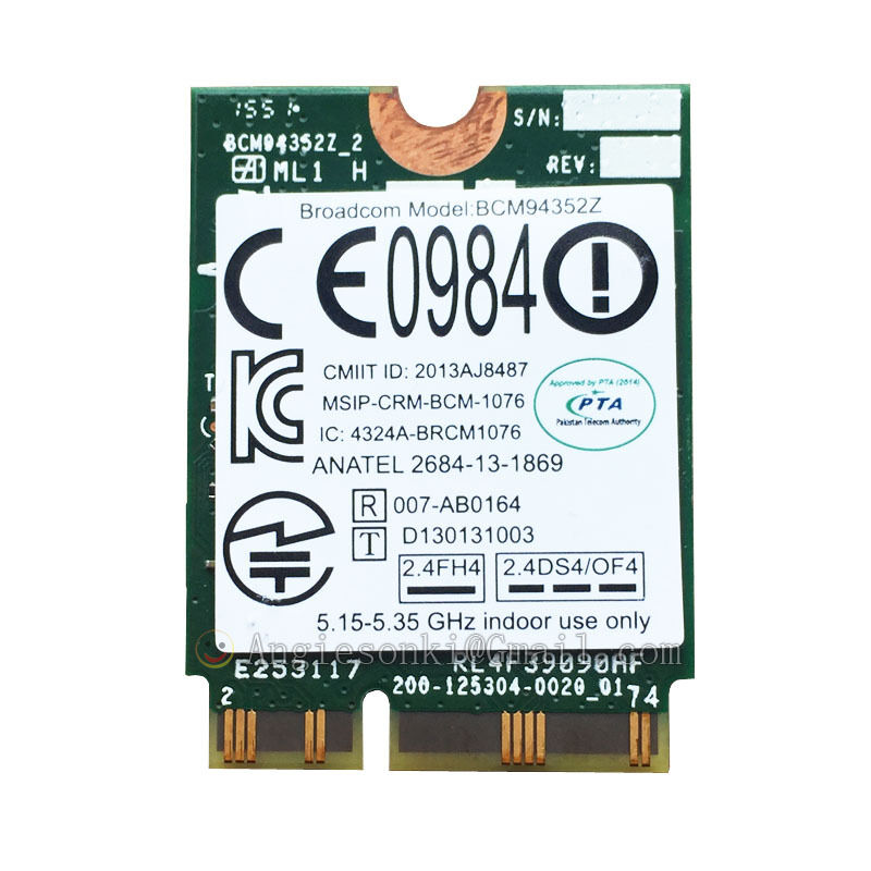 Details about LENOVO YOGA 3 PRO/2 13/710/Y50-70/Touch 04X6020 BCM94352Z AC  WIFI CARD+BT4 0 Mac