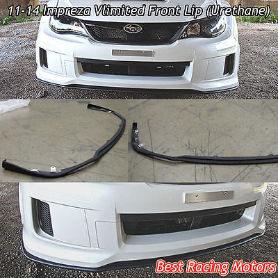 Vlimited Style Front Bumper Lip (Urethane) Fits 11-14 Subaru Impreza WRX STi