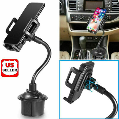 New Universal Car Mount Adjustable Gooseneck Cup Holder Cradle for Cell Phone US