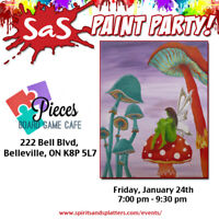 Paint Party at the Pieces Cafe in Belleville!