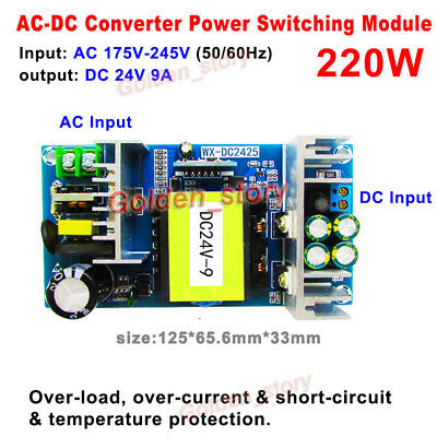 Ac-dc Converter 220v 230v 240v To Dc 24v 9a Isolated Power Switching Transformer
