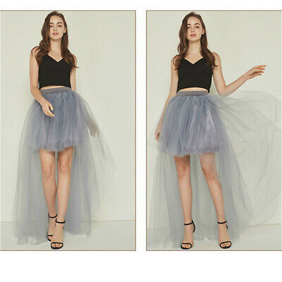 Tulle Bustle Skirt (Lady Tulle Tutu Mesh Skirt Fancy Dress Burlesque Bustle Petticoat Club Sexy)