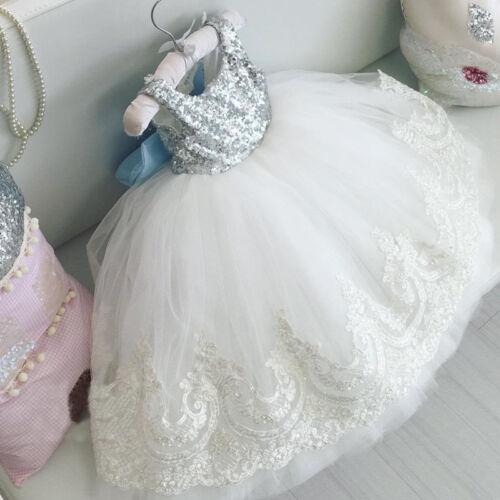 Flower Girl Princess Dress Kids Baby Party Wedding Bridesmai