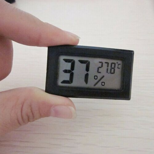 Gauge Black Monitor Meter Digital Display Hygrometer Humidity LCD Thermometer#C