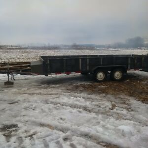 18 foot trailer and 6X12 covered