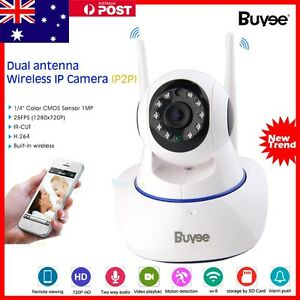 HD 720P Wireless Wifi Network CCTV Security Night Vision IP PTZ Camera Monitor