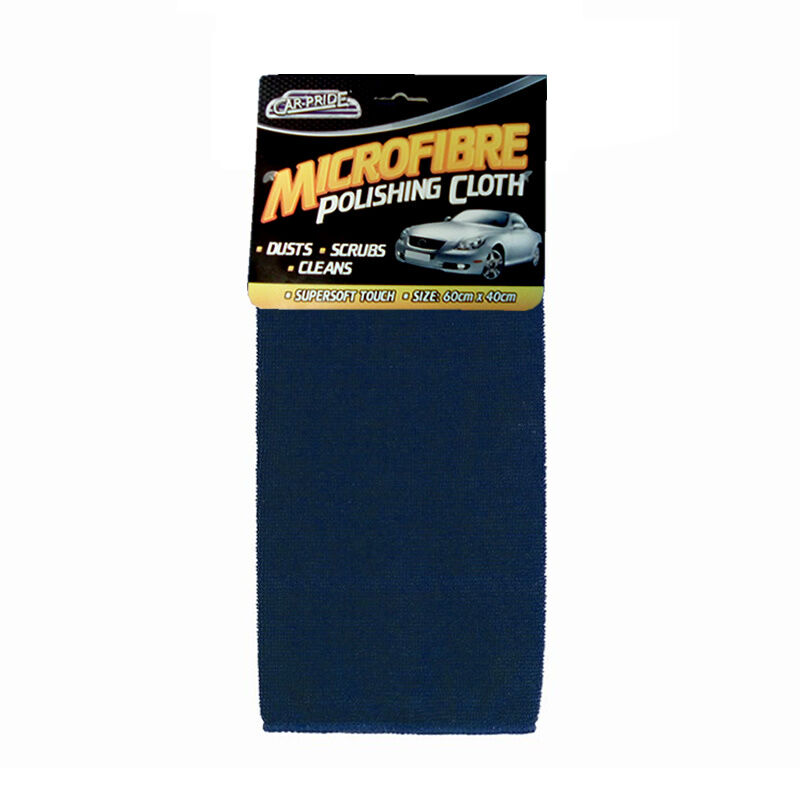 CARPRIDE MICROFIBRE POLISHING DRYING CAR VAN BODYWORK DUSTER CLOTH TOWEL 60x40cm