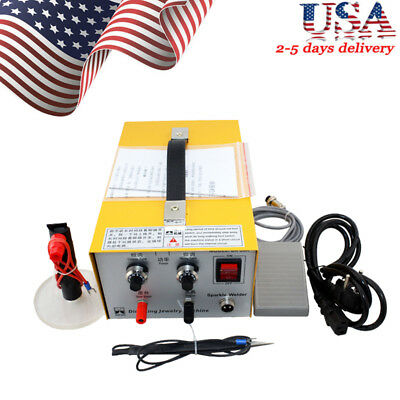 Pulse Sparkle Spot Welder Electric Jewelry Welding Machine Gold Silver Usa