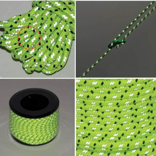 50m Outdoor Night High Visibility Reflective Rope Durable 4mm Tent Fixed Rope