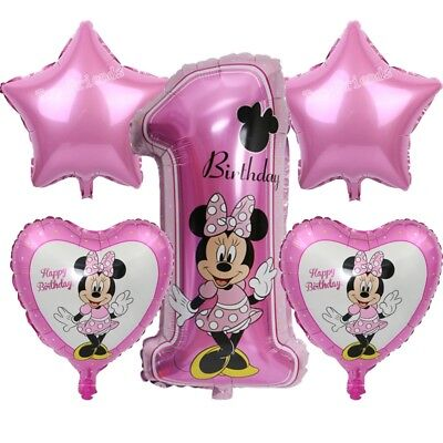 Minnie Mouse 1st birthday balloons, Pink - First Birthday Balloon