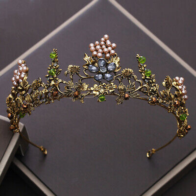 Forest Queen Goddess Tiara Fairy Crown Wedding Party Cosplay - Woodland Fairy Party