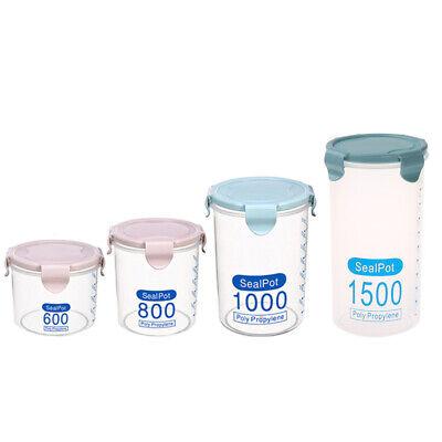 Food Storage Organizer (Round Plastic Sealed Lid Food Storage Box Container Jar Organizer Kitchen Case)