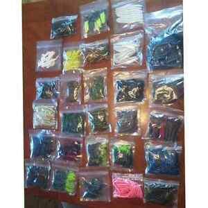 Sports fishing.  Plastic lures