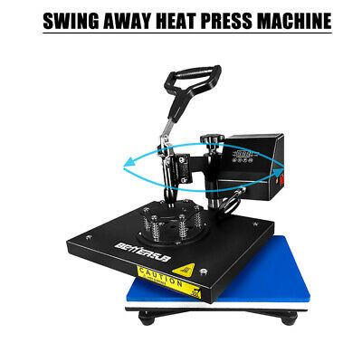 Digital Heat Press Machine Transfer Printing Diy T-shirts Mats 9x12 Swing Away