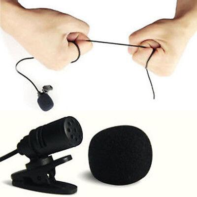 Mini Lavalier Microphone (3.5mm Clip On Lapel Microphone Hands Free Wired Condenser Mini Lavalier Mic)