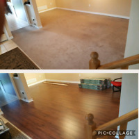 Hardwood and laminate
